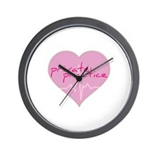Private practice heart Wall Clock