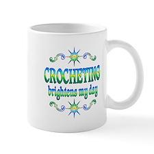Crocheting Brightens Mug