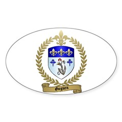 GOGUEN Family Crest Oval Decal