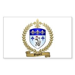 GOGUEN Family Crest Rectangle Decal