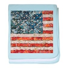 Van Gogh USA Flag baby blanket