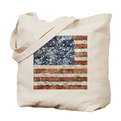 Van Gogh USA Flag Tote Bag