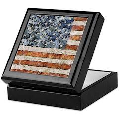 Van Gogh USA Flag Keepsake Box