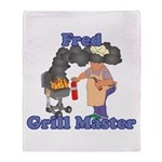 Grill Master Fred Throw Blanket
