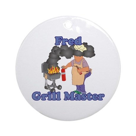 Grill Master Fred Ornament (Round)