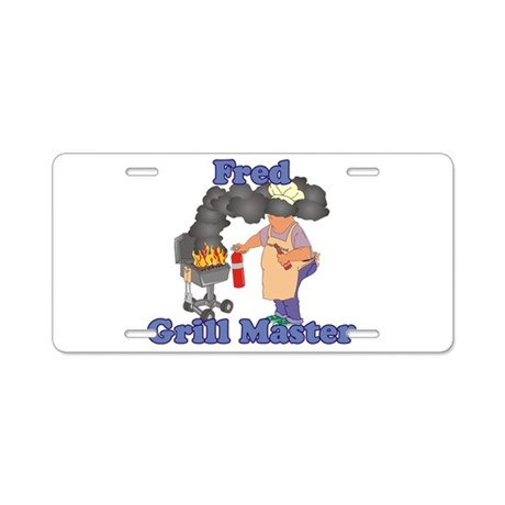 Grill Master Fred Aluminum License Plate