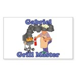 Grill Master Gabriel Sticker (Rectangle)