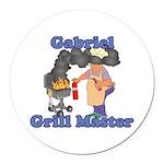 Grill Master Gabriel Round Car Magnet