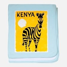 Kenya Travel Poster 1 baby blanket