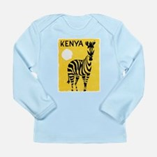 Kenya Travel Poster 1 Long Sleeve Infant T-Shirt