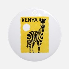 Kenya Travel Poster 1 Ornament (Round)