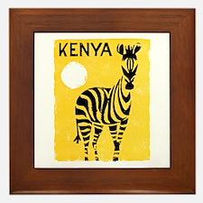 Kenya Travel Poster 1 Framed Tile