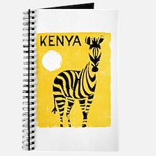 Kenya Travel Poster 1 Journal