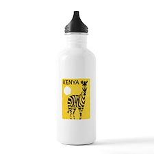 Kenya Travel Poster 1 Water Bottle