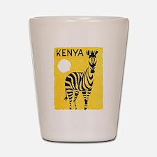Kenya Travel Poster 1 Shot Glass