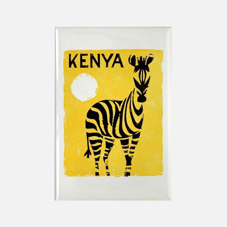 Kenya Travel Poster 1 Rectangle Magnet