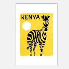 Kenya Travel Poster 1 Postcards (Package of 8)