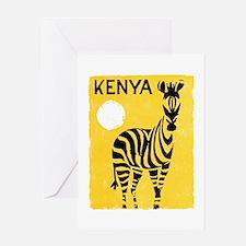 Kenya Travel Poster 1 Greeting Card