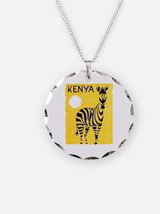 Kenya Travel Poster 1 Necklace