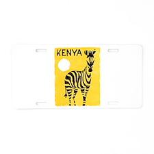 Kenya Travel Poster 1 Aluminum License Plate