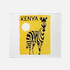 Kenya Travel Poster 1 Throw Blanket