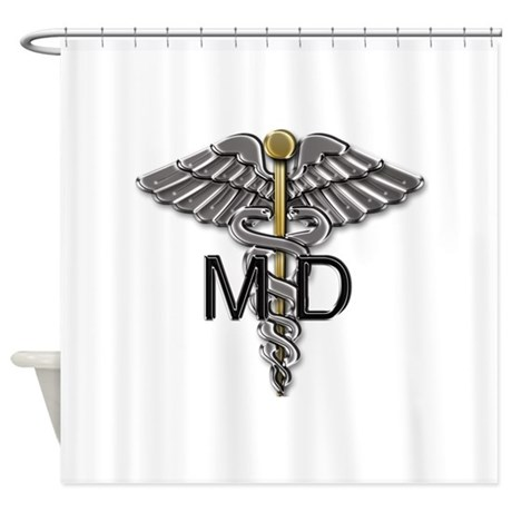 MD Symbol Shower Curtain