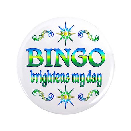 """BINGO Brightens 3.5"""" Button"""