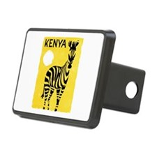 Kenya Travel Poster 1 Hitch Cover