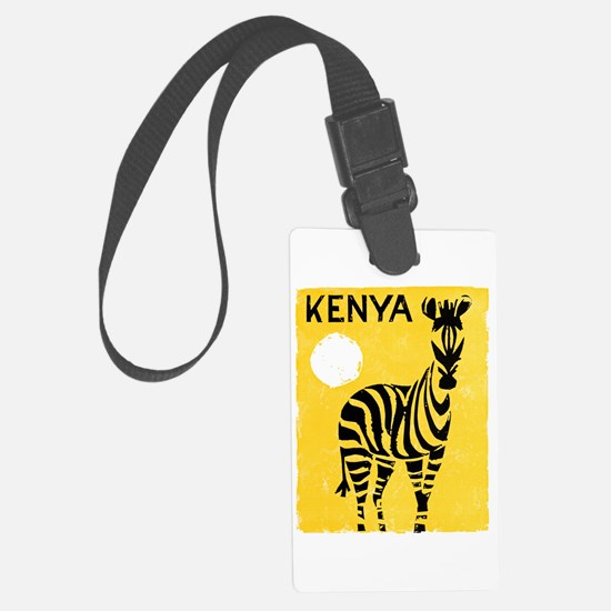 Kenya Travel Poster 1 Large Luggage Tag