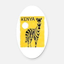 Kenya Travel Poster 1 Oval Car Magnet