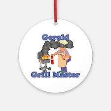 Grill Master Gerald Ornament (Round)