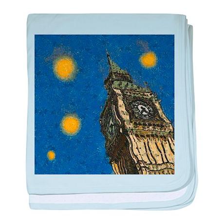 London Starry Night baby blanket