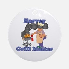 Grill Master Harvey Ornament (Round)