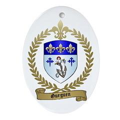 GUEGUEN Family Crest Oval Ornament