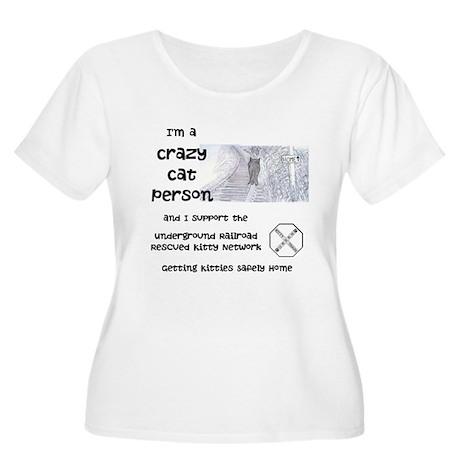 Crazy Cat Person Women's Plus Size Scoop Neck T-Sh