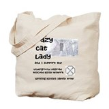 Crazy cat lady Canvas Totes