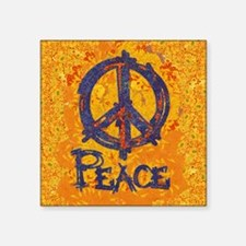 "Gustav Klimt Peace Square Sticker 3"" x 3"""