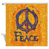 Peace art Shower Curtains