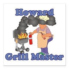 Grill Master Howard Square Car Magnet 3