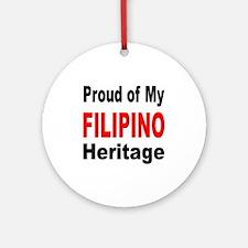 Proud Filipino Heritage Ornament (Round)