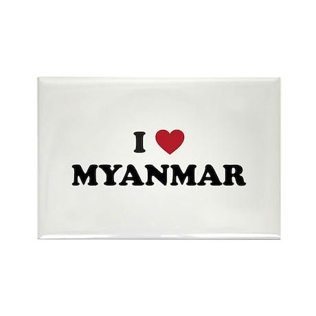 I Love Myanmar Rectangle Magnet