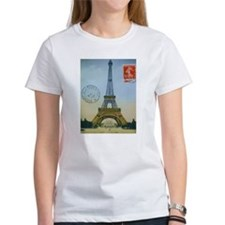 eiffelpostcardprint T-Shirt