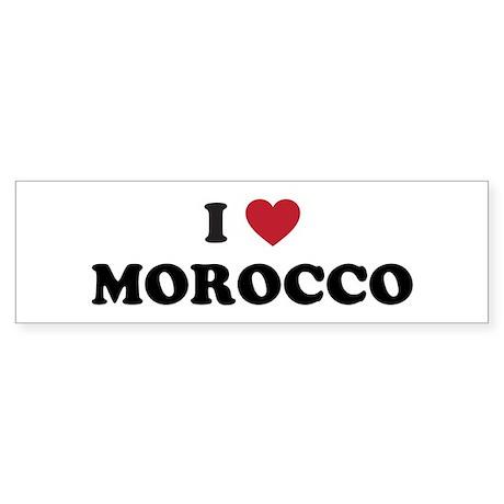I Love Morocco Sticker (Bumper)