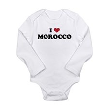 I Love Morocco Long Sleeve Infant Bodysuit