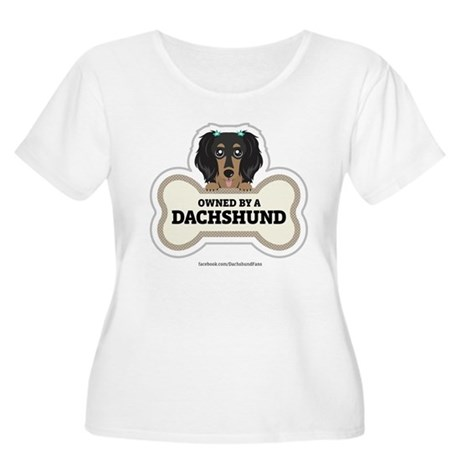 Owned by a Dachshund Women's Plus Size Scoop Neck