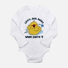 Life's Ducky 1st Birthday LS Infant Bodysuit