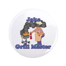 """Grill Master Jake 3.5"""" Button"""