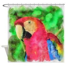 Parrot Art Shower Curtain