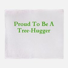 Proud Tree-Hugger Throw Blanket