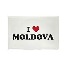 I Love Moldova Rectangle Magnet